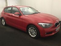 BMW 1 SERIES 1.6 116D EFFICIENTDYNAMICS 5d 114 BHP (red) 2013