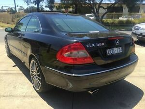 2008 Mercedes-Benz CLK350 C209 07 Upgrade Avantgarde Black 7 Speed Automatic G-Tronic Coupe Brooklyn Brimbank Area Preview