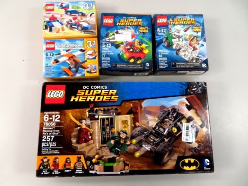 5 Sealed in Box LEGO Sets- 3 DC Comics Super Heroes, Two 3-in-1 Creator - LOT
