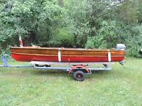 1949 Lakefield Cedar Strip in Excellent Shape with Trailer