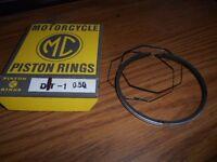 NOS MC Brand Yamaha DT1 DT-1 STD Keystone Piston Rings Ring Set 214-11601-02