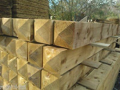 8ft 2 4m 6 Quot X 6 Quot Treated Wooden Gate Fence Posts Field