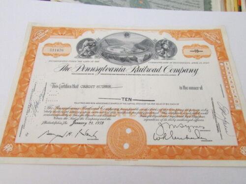 Vintage Railroad Stock Bond Certificate # 4  Expired