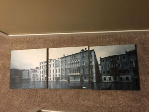 3-piece set of scenic canvas matching photos