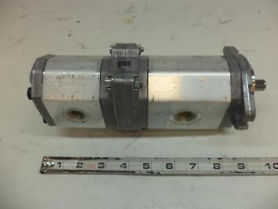 New Marzocchi Hydraulic Gear Pump Alp1a-d-20 Alp1-d-9-fa Dual Oulet Aluminum