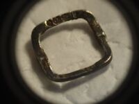 SOLID SILVER VICTORIAN SHOE BUCKLE NEEDS CLEANING
