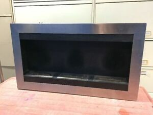 STAINLESS STEEL ETHANOL-FUELLED FIREPLACE