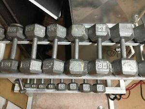 Full Set Hex Dumbbells 10lb to 35lb+ Rack Stand + Add On Weight