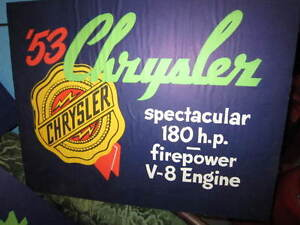 Classic car dealership mounted  posters 1953 Chyrsler