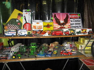 DIE CAST MODELS AND NEON LIGHTS