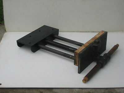 Antique Fulton Tools Woodworking Vise Under Bench Mount 2x10 Jaw