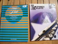 Flute music books, some with CD's including Taylor Swift, Les Mis, Wicked, also exam syllabus books