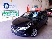 SEAT IBIZA 1.4 SPORT 5d 85 BHP (black) 2009
