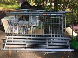 metal bunk bed with desk underneath Erina Gosford Area Preview