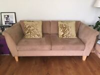 John Lewis Suede Two Seater Sofa For Sale – Immaculate Condition