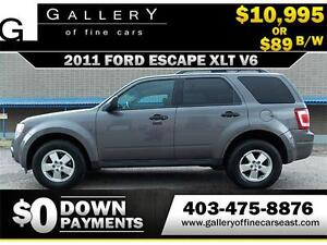 2011 Ford Escape XLT V6 $89 Bi-Weekly APPLY NOW DRIVE NOW