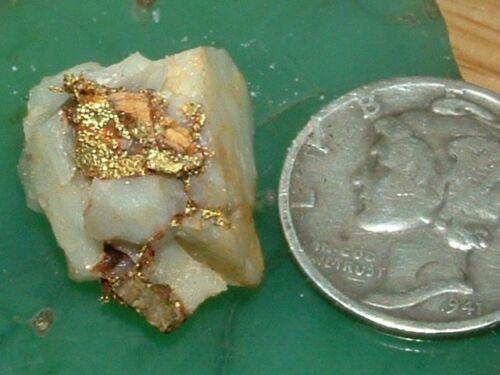 CALIFORNIA GOLD QUARTZ GOLD LEAF SPECIMEN 2.75 GRAM NATURAL