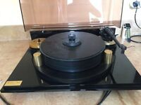 Michell Orbe Turntable with SME V Arm and Michell Orbe Gyropower QC