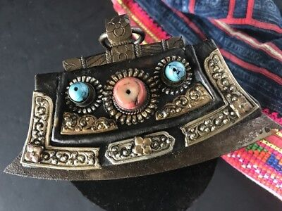 Old Tibetan Leather Purse Fire Starter Chuckmuck …beautiful collection item