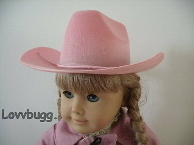 Pink Cowboy Cowgirl Hat for American Girl Doll Clothes Riding & Baby Western ](Girls Pink Cowboy Hat)