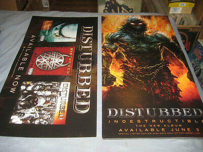 DISTURBED-(indestructible)-1 POSTER-SIDED-12X24-NMINT-RARE