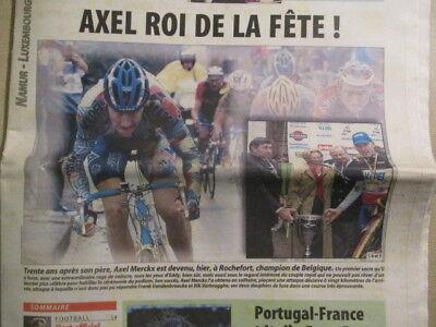 VELO: AXEL MERCKX CHAMPION DE BELGIQUE A ROCHEFORT 26/06/2000 - BOB MORANE BXL