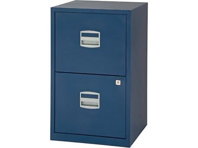 2 DRAWER BISLEY STEEL FILING CABINET / DARK BLUE / A4 NEW + FREE 24h COURIER