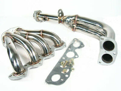 OBX Silver Exhaust Header Manifold Fits 97 98 99 00 01 Prelude Vtec H22 2.2L