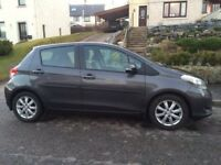 2012 Toyota Yaris, 5dr, full service history. Metallic grey. Petrol. PERFECT