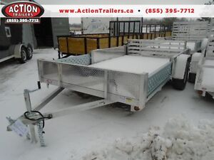 12' FULLY LOADED ALUMINUM UTILITY - NO RUST, EASY TOW, VERSATILE
