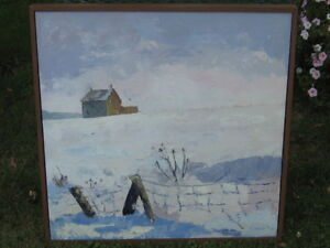 LOVELY LARGE ORIGINAL PAINTING OF THE BUTLER HOMESTEAD IN OIL