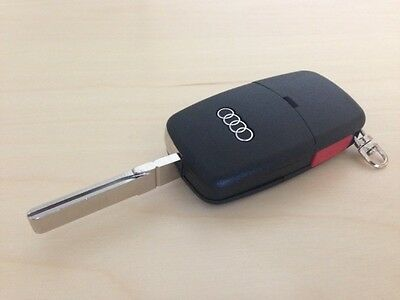 BRAND NEW AUDI A4 A6 A8 TT KEY FOB SHELL REPLACEMENT CASE WITH LOGO and PANIC