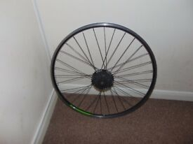 650b bike rear wheel