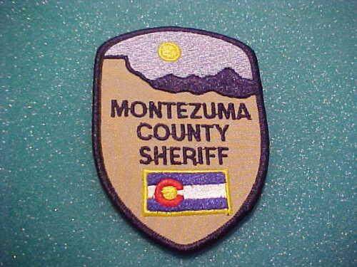 MONTEZUMA COUNTY COLORADO POLICE PATCH SHOULDER SIZE UNUSED