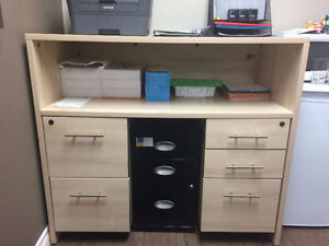 5-drawer office desk unit with lock and key