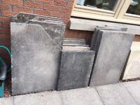 Used paving slabs.