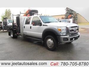 2012 Ford Super Duty F-550 XLT Crew Cab Picker Crane Truck GAS