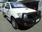 2010 Toyota Hilux KUN26R MY10 SR White 5 Speed Manual Cab Chassis Edwardstown Marion Area Preview