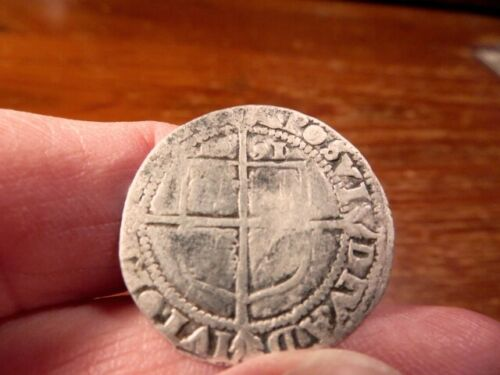 Elizabeth I Silver sixpence Dated 1591.