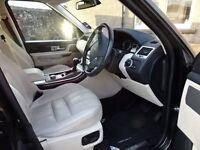 Beautiful black Range Rover Sport HSE Luxury Model with ivory interior
