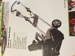 "ELECTRIC CORDED 18""SNOW THROWER 13.5  AMP-18 "" CUT"