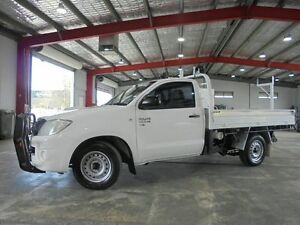 2010 Toyota Hilux KUN16R MY10 SR White 5 Speed Manual Cab Chassis Welshpool Canning Area Preview