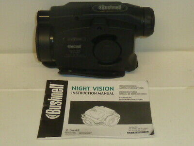 Bushnell Night Vision 26-0102 Monocular 2.5x42 With Manual Tested Working