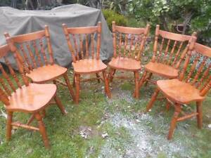 Six Colonial chairs. Mount Pleasant Ballarat City Preview