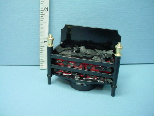 Miniature Battery Op. Fireplace Light #T22 Flickering Insert/Coal