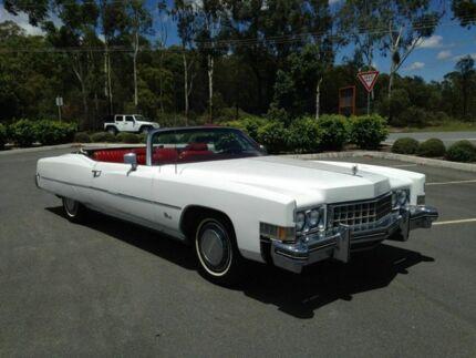 1973 Cadillac Eldorado White Automatic Convertible