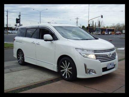 2010 Nissan Elgrand PNE52 H/Star Premium White Pearl Automatic Wagon
