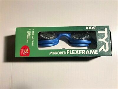 TYR Kid's FLEXFRAME Mirrored Swim Goggles Blue