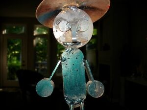 STEEL ART SCULPTURE just too funny!! artist made WHIMSY Cambridge Kitchener Area image 4