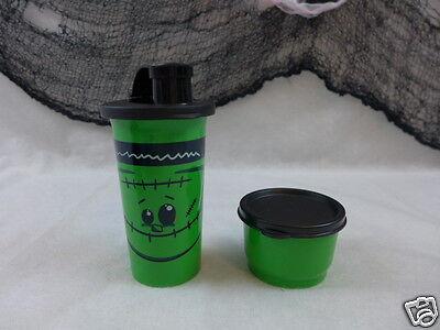 Tupperware Tumbler & Snack Cup Tupperware Kids Halloween Monster Green Black New